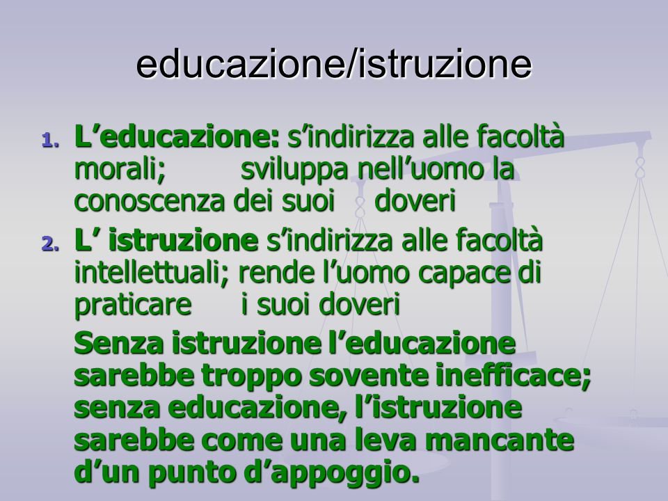 educazione/istruzione