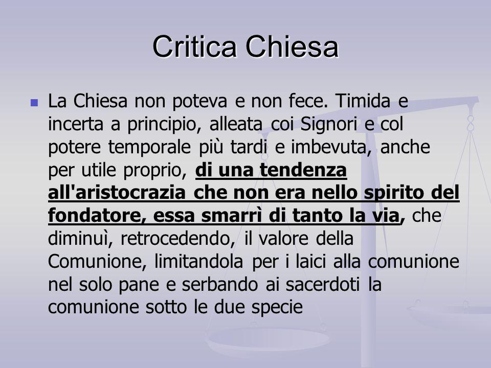 Critica Chiesa