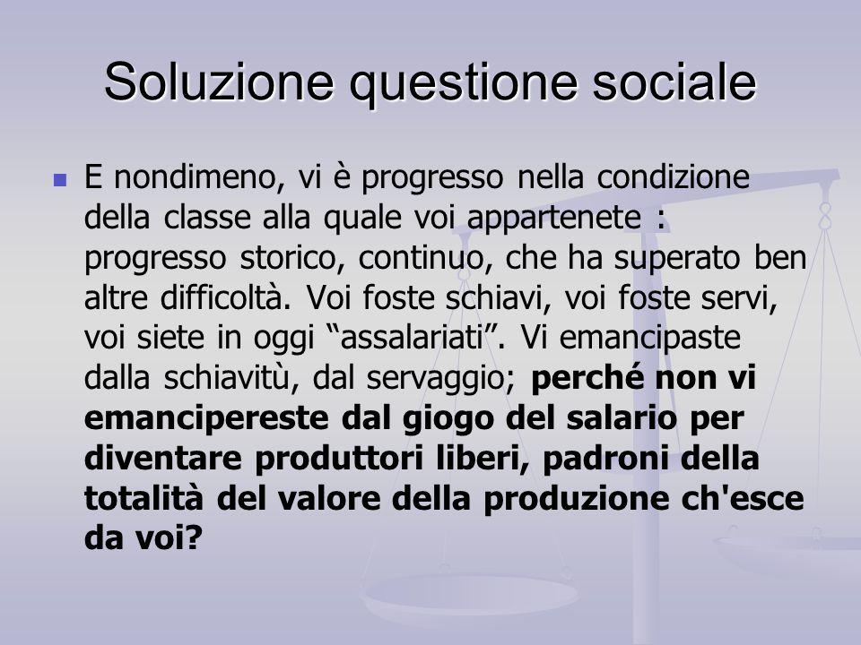 Soluzione questione sociale