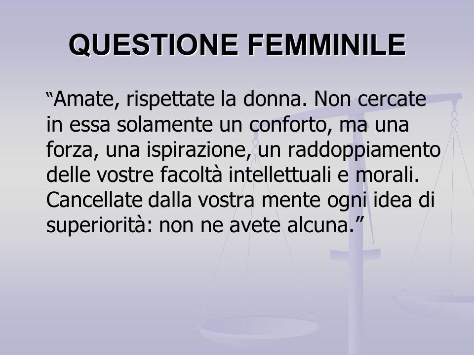 QUESTIONE FEMMINILE