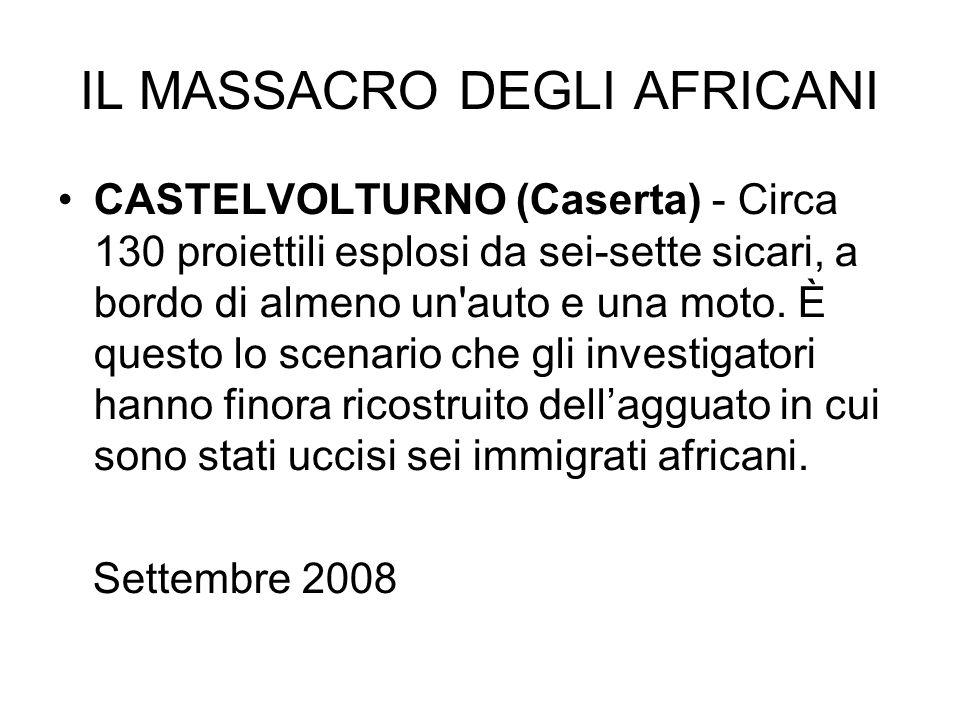 IL MASSACRO DEGLI AFRICANI
