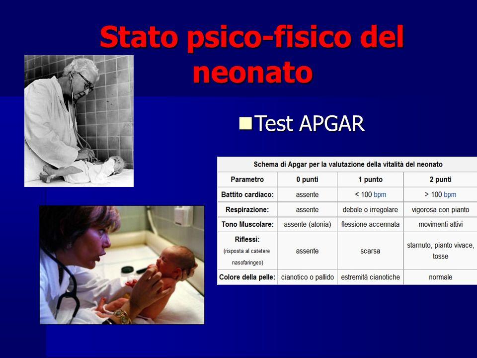 Stato psico-fisico del neonato