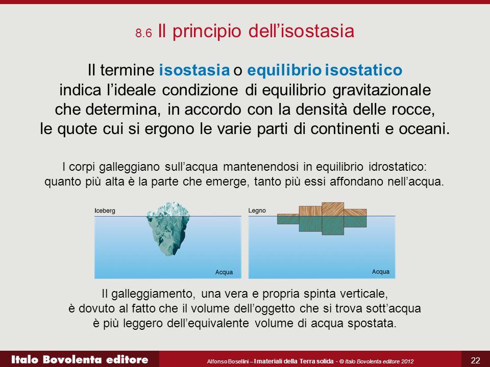 8.6 Il principio dell'isostasia