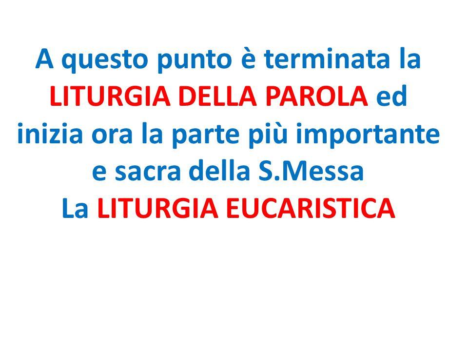 La LITURGIA EUCARISTICA