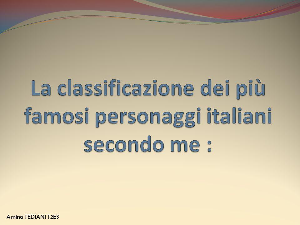 La classificazione dei più famosi personaggi italiani secondo me :
