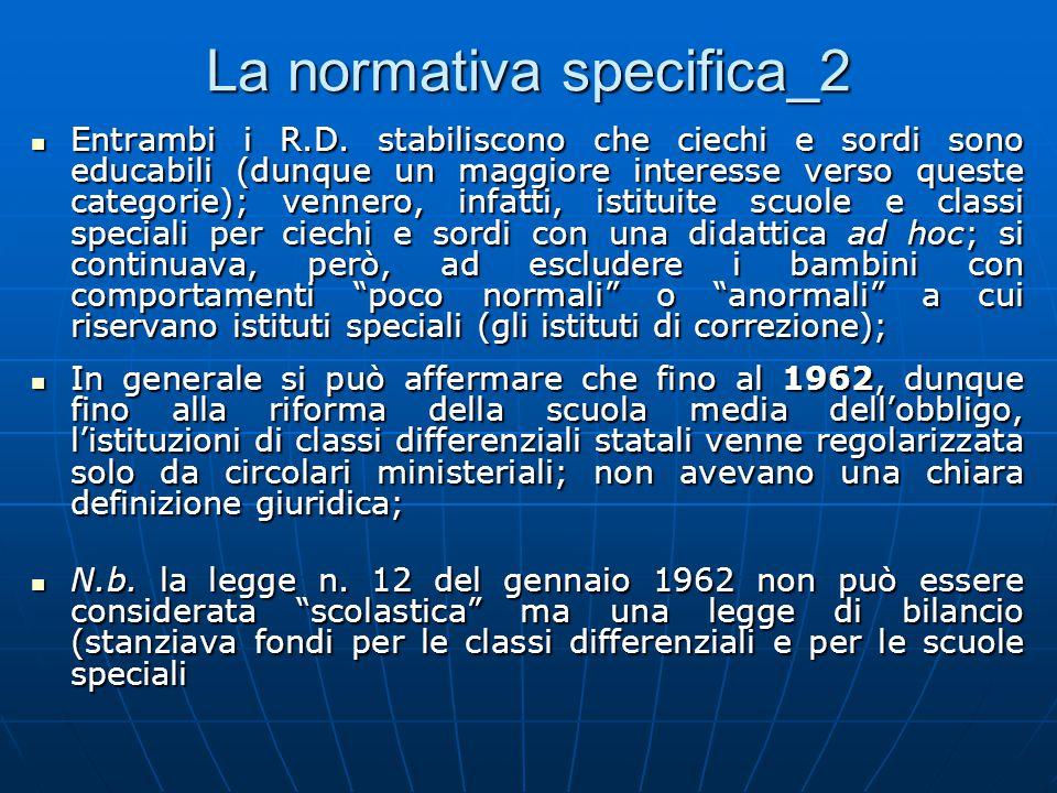 La normativa specifica_2