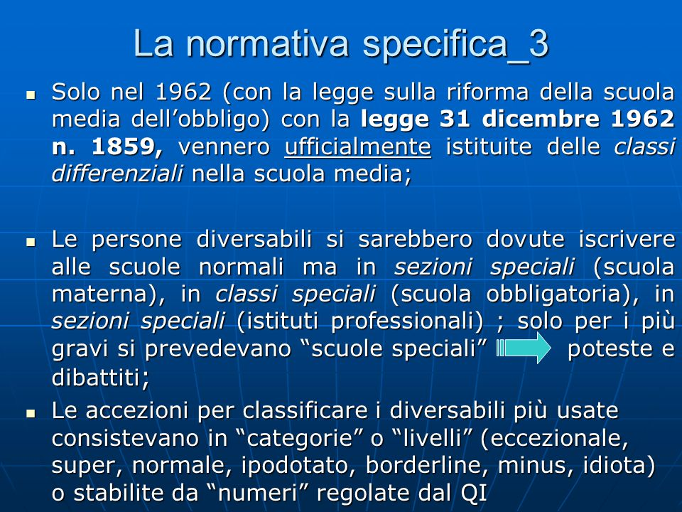 La normativa specifica_3