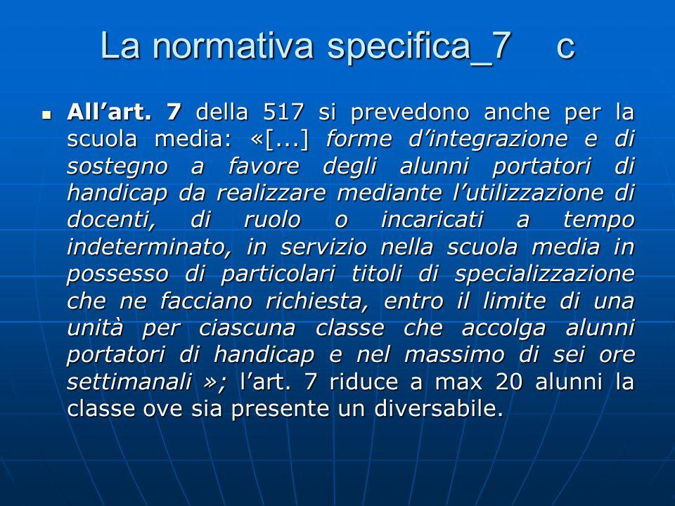 La normativa specifica_7 c