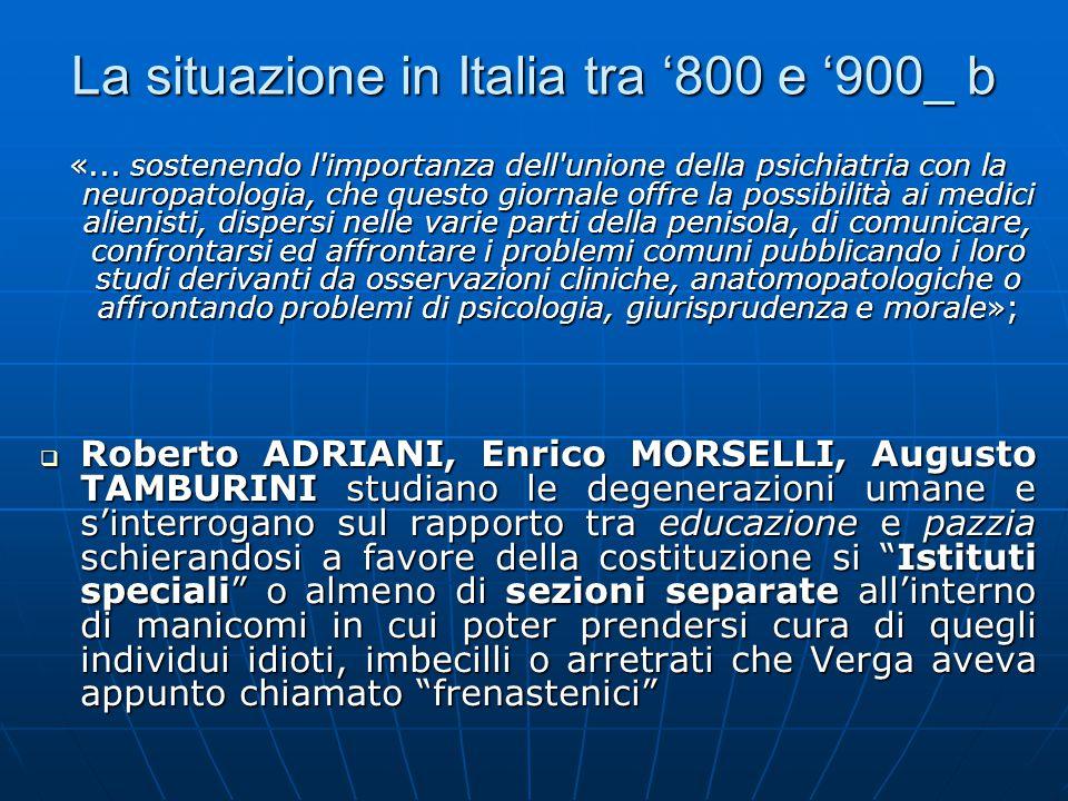 La situazione in Italia tra '800 e '900_ b