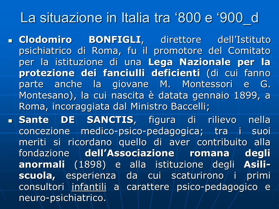 La situazione in Italia tra '800 e '900_d