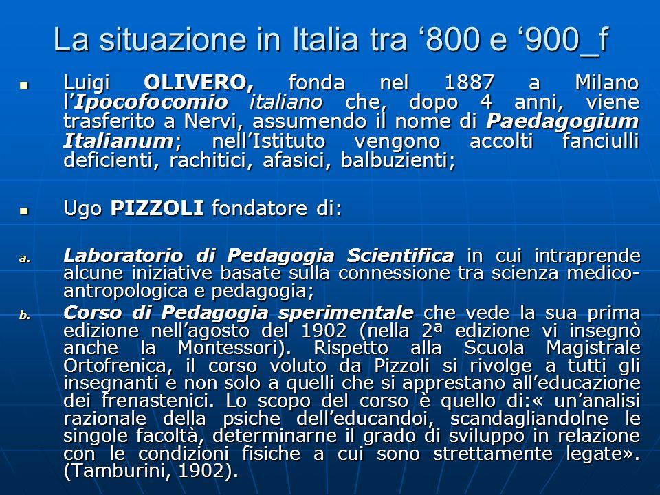 La situazione in Italia tra '800 e '900_f