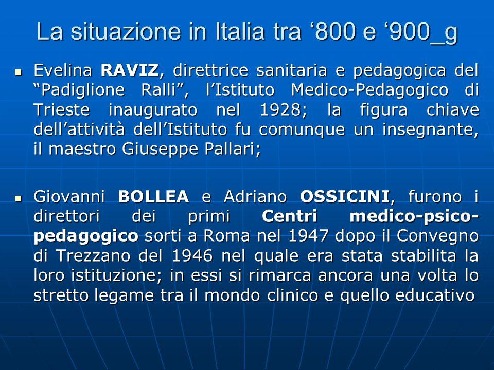 La situazione in Italia tra '800 e '900_g