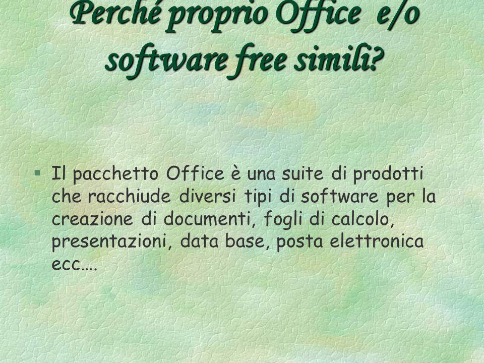 Perché proprio Office e/o software free simili