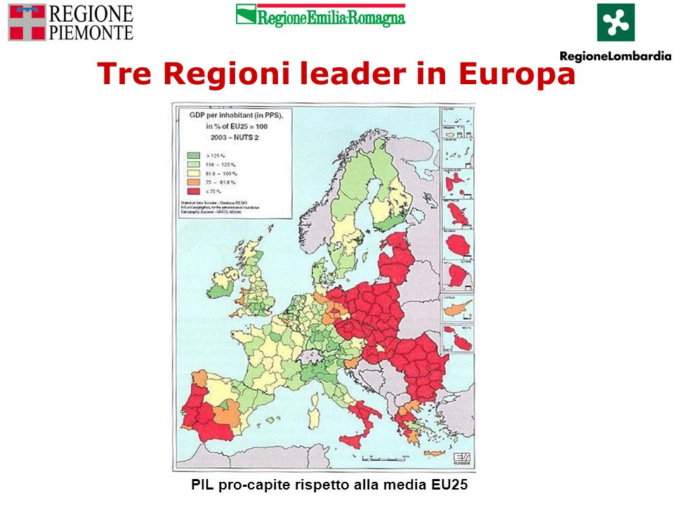 Tre Regioni leader in Europa