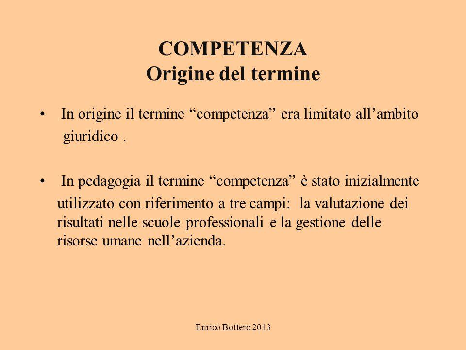 COMPETENZA Origine del termine