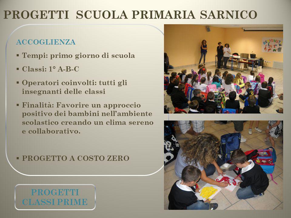 PROGETTI SCUOLA PRIMARIA SARNICO