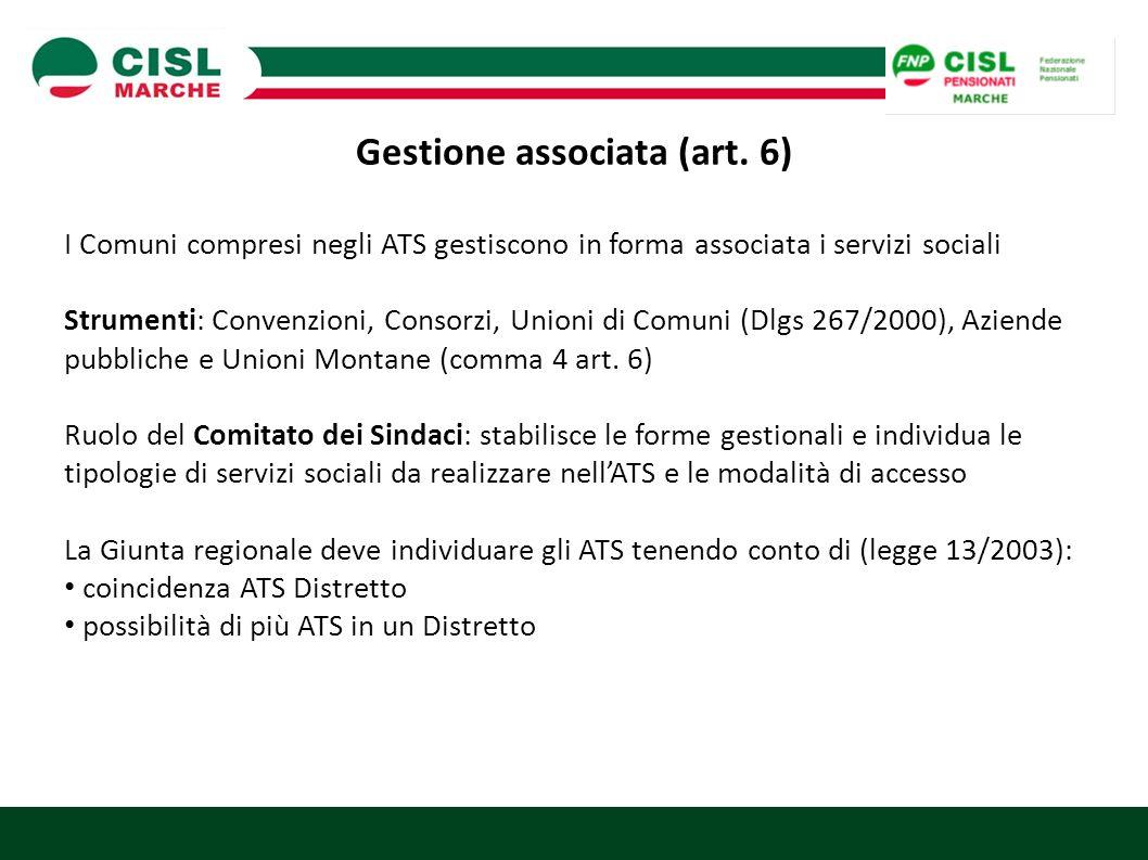Gestione associata (art. 6)
