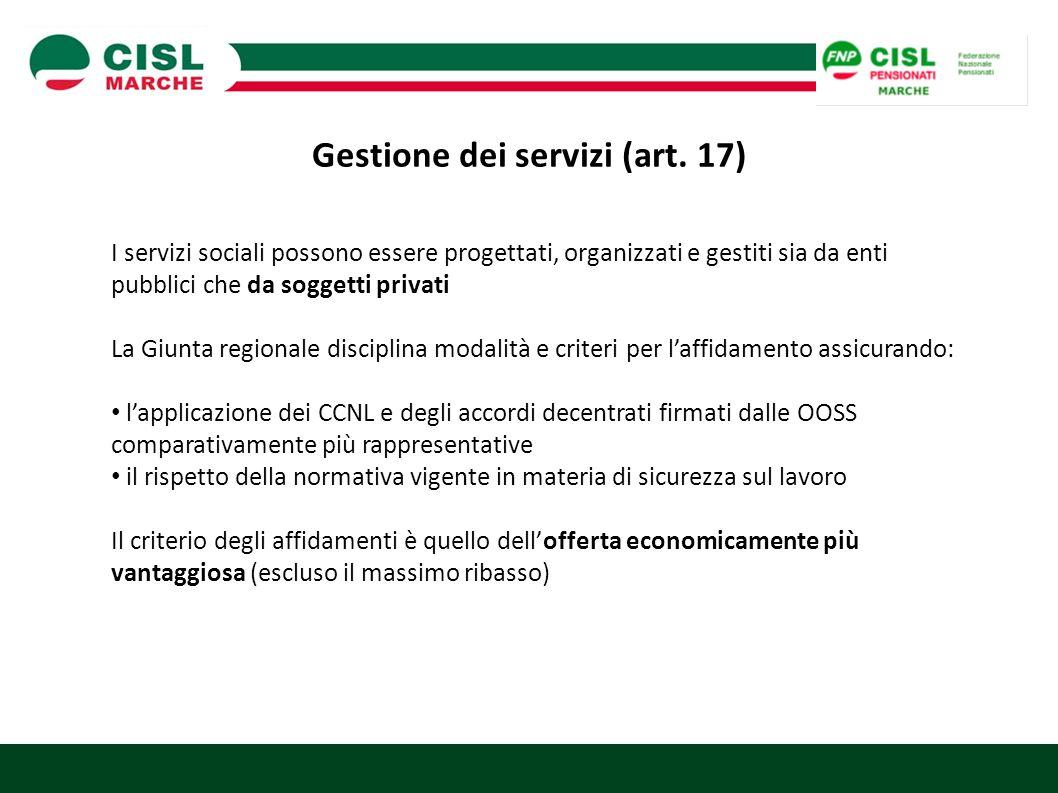 Gestione dei servizi (art. 17)