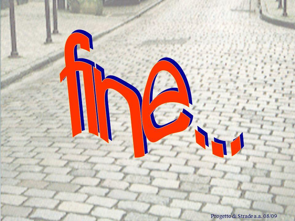 fine... Progetto di Strade a.a. 08/09
