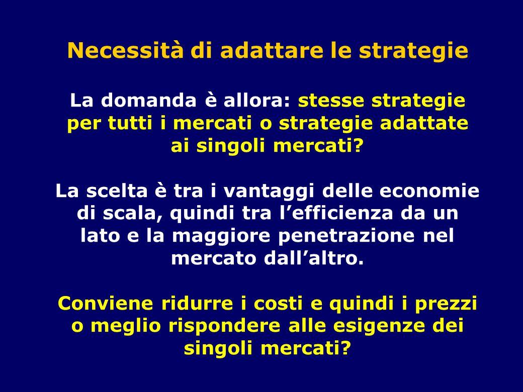 Necessità di adattare le strategie