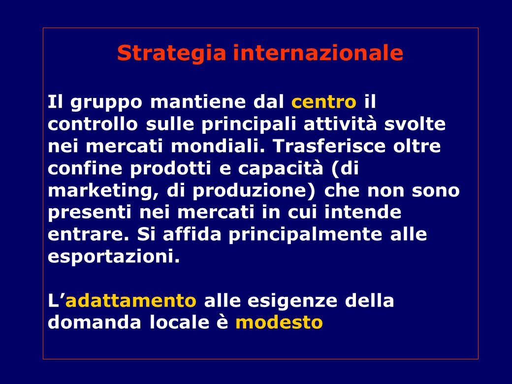 Strategia internazionale