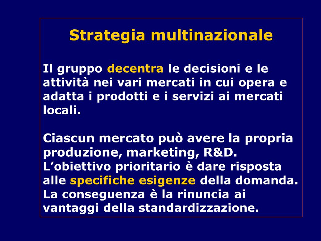Strategia multinazionale