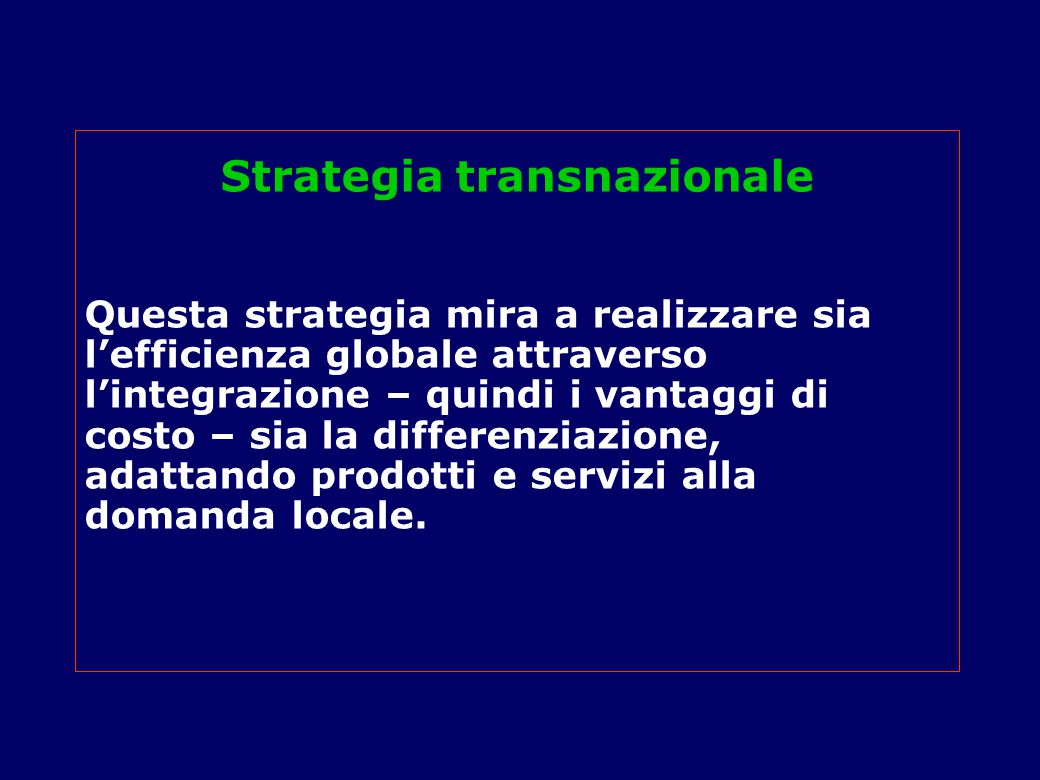 Strategia transnazionale