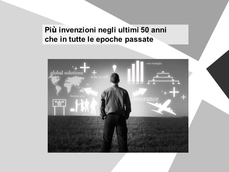 Più invenzioni negli ultimi 50 anni che in tutte le epoche passate