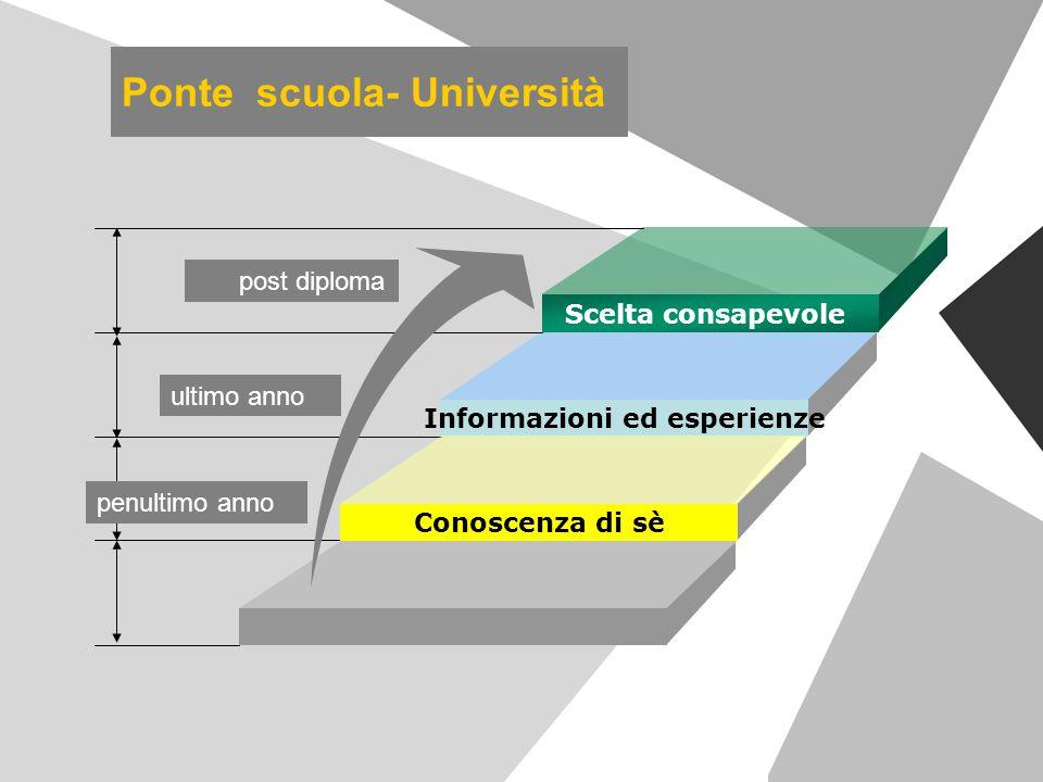 Ponte scuola- Università