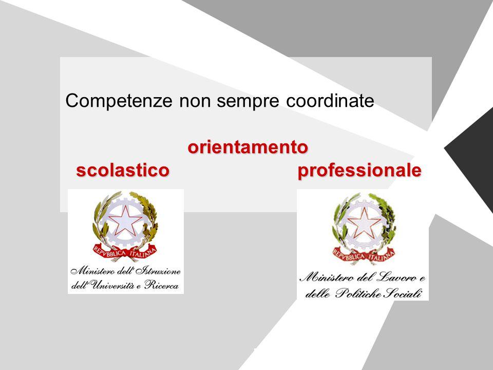 Competenze non sempre coordinate orientamento scolastico professionale