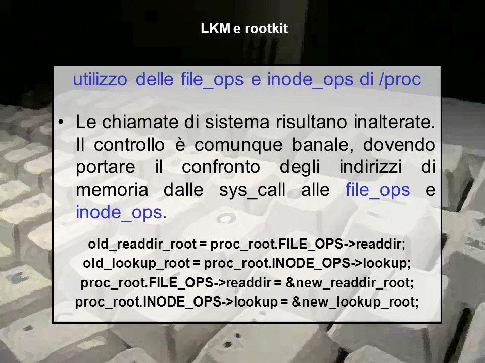 utilizzo delle file_ops e inode_ops di /proc
