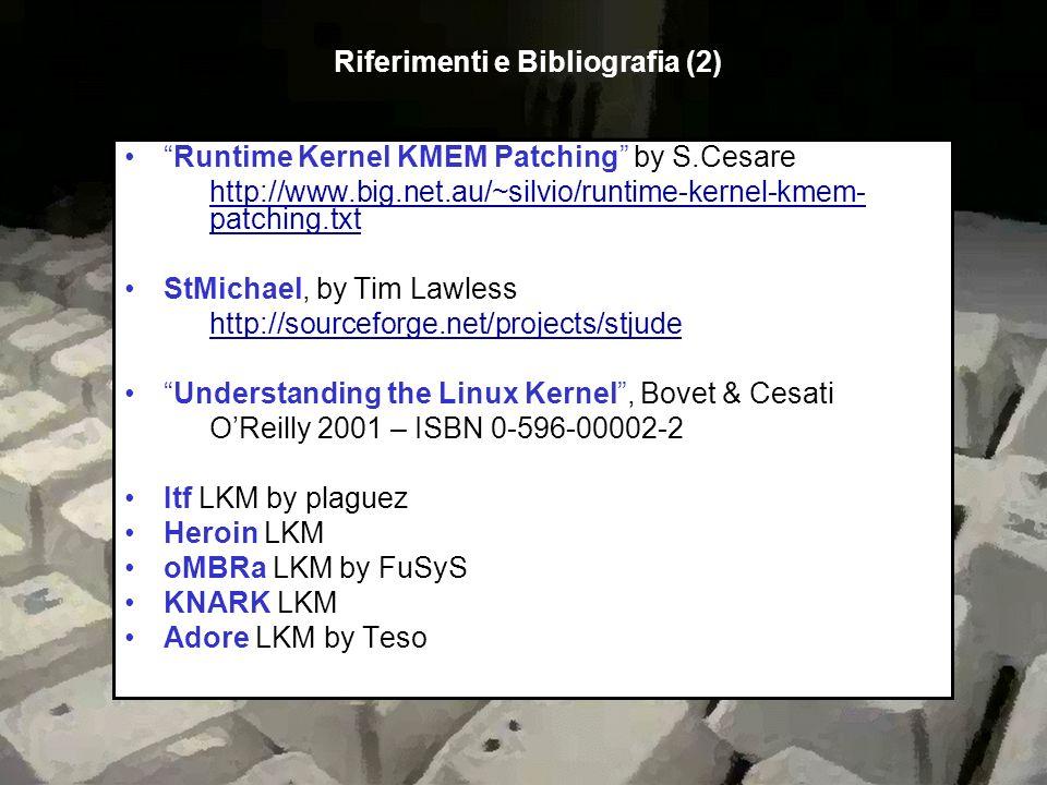 Riferimenti e Bibliografia (2)