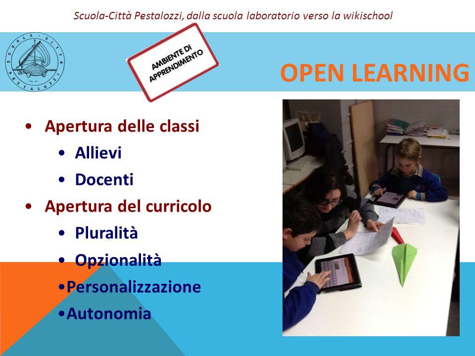 Open learning Apertura delle classi Allievi Docenti