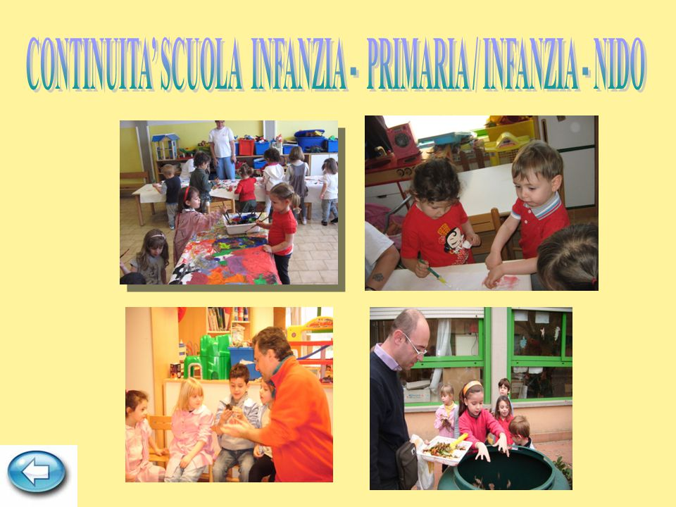 CONTINUITA' SCUOLA INFANZIA - PRIMARIA / INFANZIA - NIDO