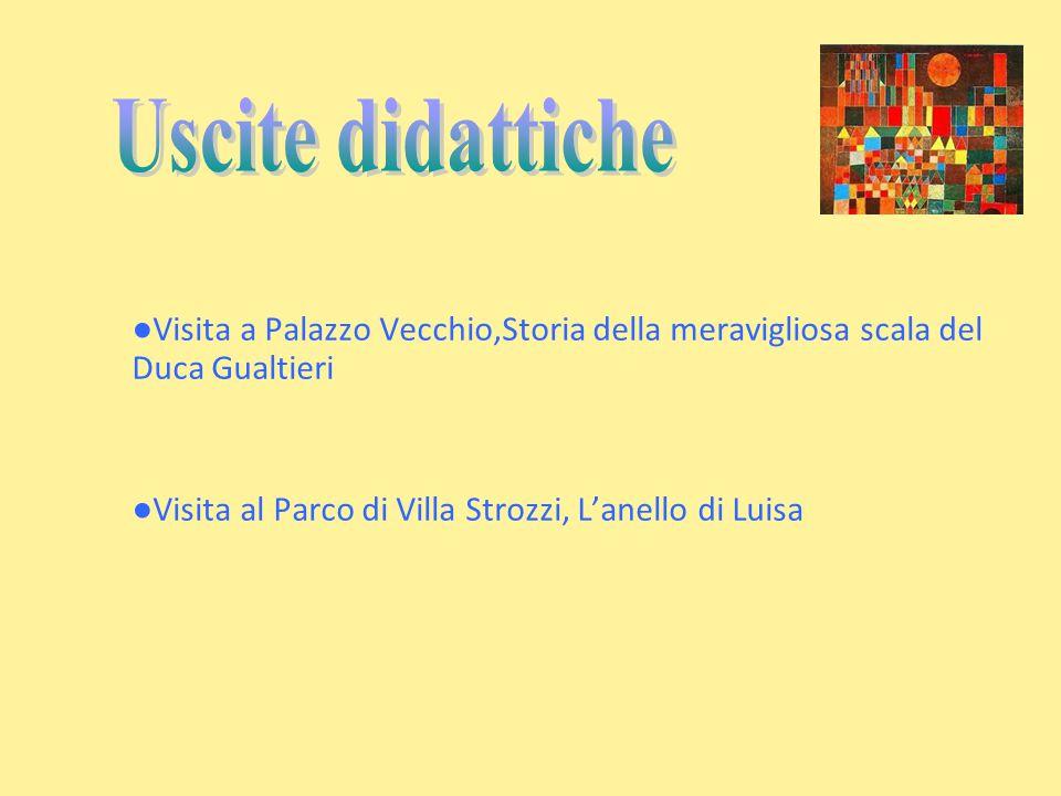 Uscite didattiche ●Visita a Palazzo Vecchio,Storia della meravigliosa scala del Duca Gualtieri.