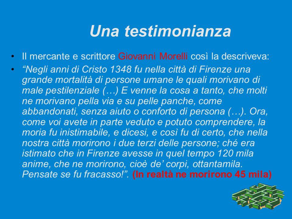 Una testimonianza Il mercante e scrittore Giovanni Morelli così la descriveva: