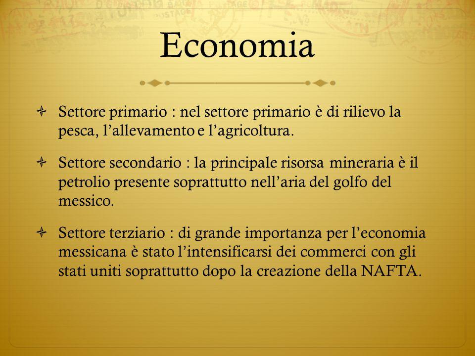 Economia Settore primario : nel settore primario è di rilievo la pesca, l'allevamento e l'agricoltura.