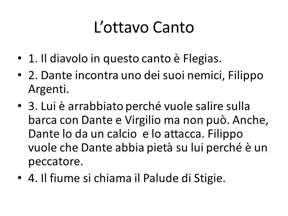 L'ottavo Canto 1. Il diavolo in questo canto è Flegias.