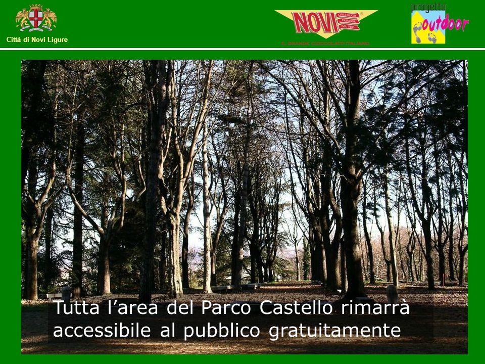 Tutta l'area del Parco Castello rimarrà accessibile al pubblico gratuitamente