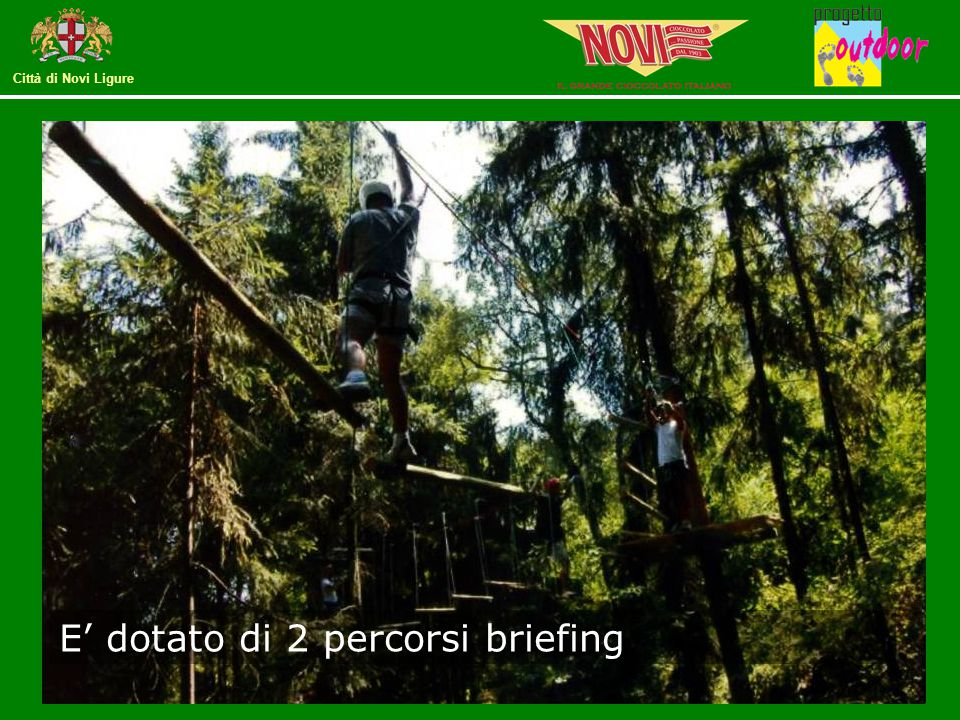 E' dotato di 2 percorsi briefing