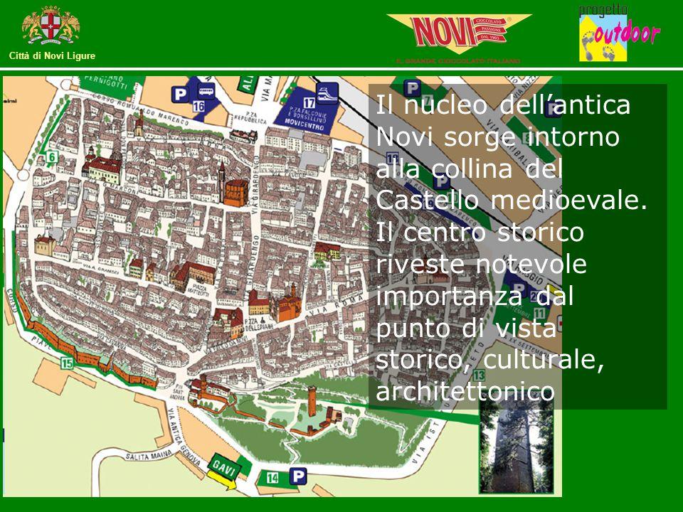 Il nucleo dell'antica Novi sorge intorno alla collina del Castello medioevale.