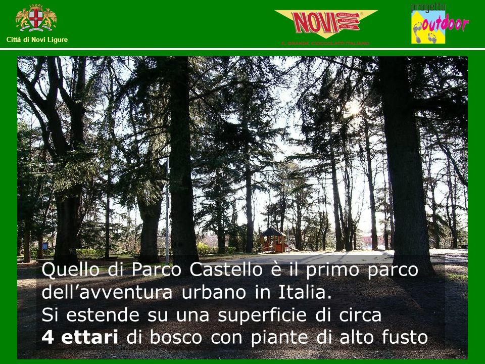 Quello di Parco Castello è il primo parco dell'avventura urbano in Italia.