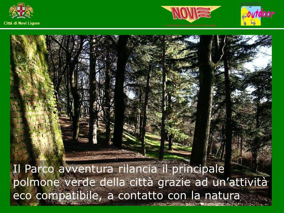 Il Parco avventura rilancia il principale polmone verde della città grazie ad un'attività eco compatibile, a contatto con la natura