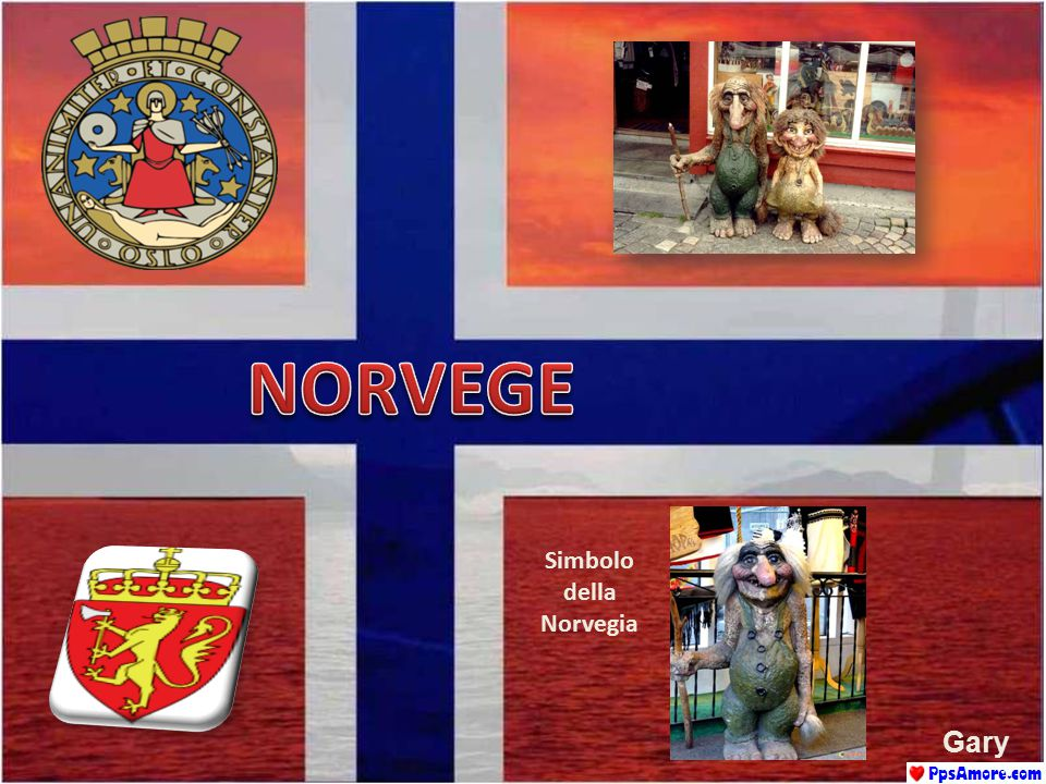 NORVEGE Simbolo della Norvegia Gary