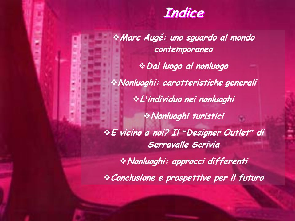 Indice Marc Augé: uno sguardo al mondo contemporaneo