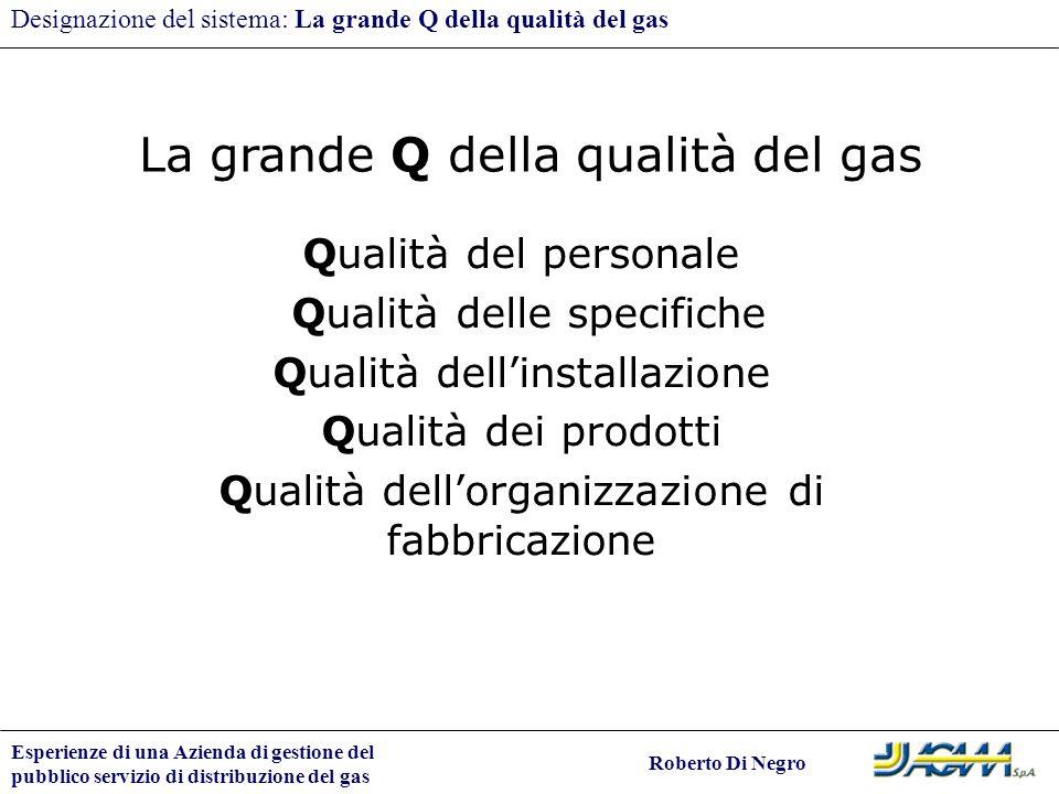 La grande Q della qualità del gas
