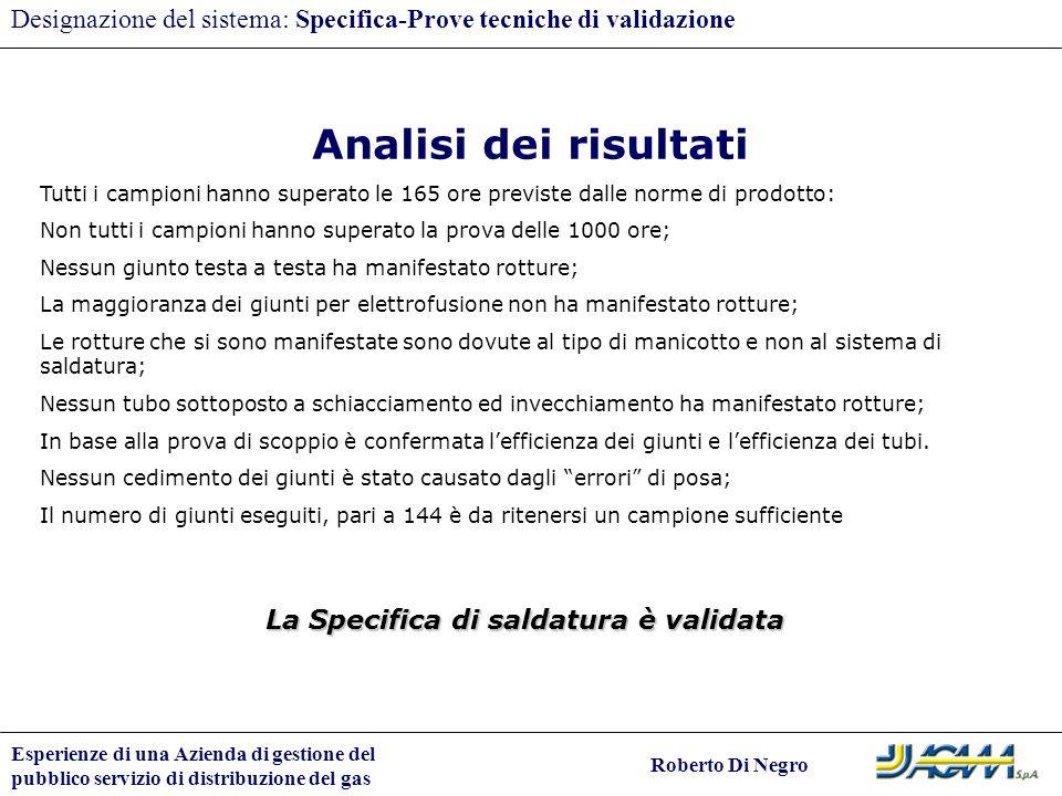 Designazione del sistema: Specifica-Prove tecniche di validazione