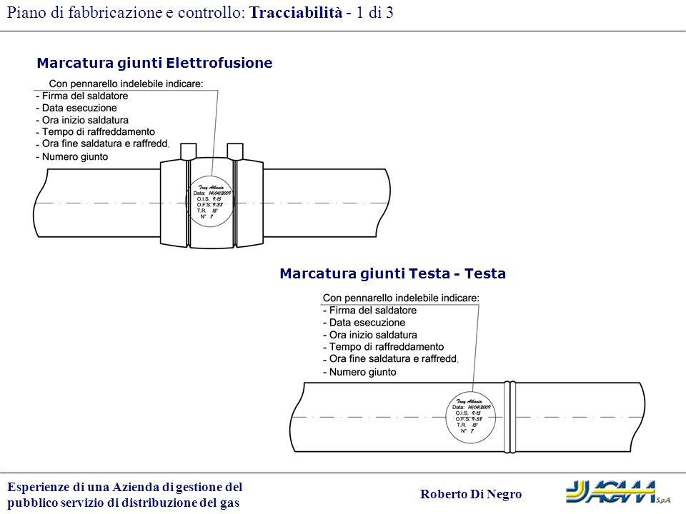 Piano di fabbricazione e controllo: Tracciabilità - 1 di 3