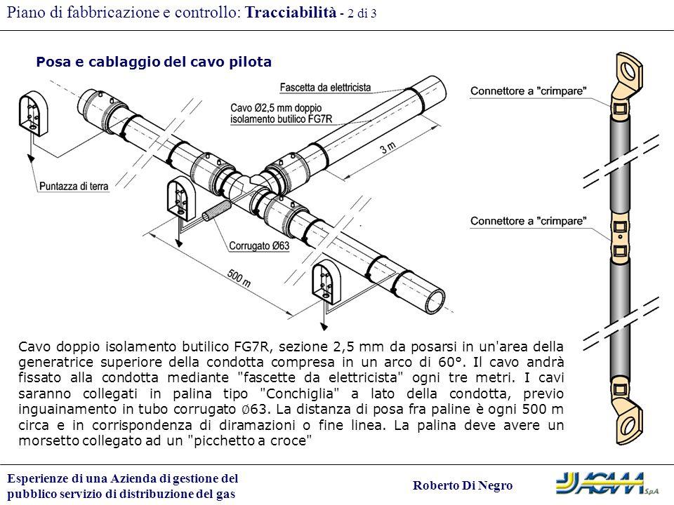 Piano di fabbricazione e controllo: Tracciabilità - 2 di 3