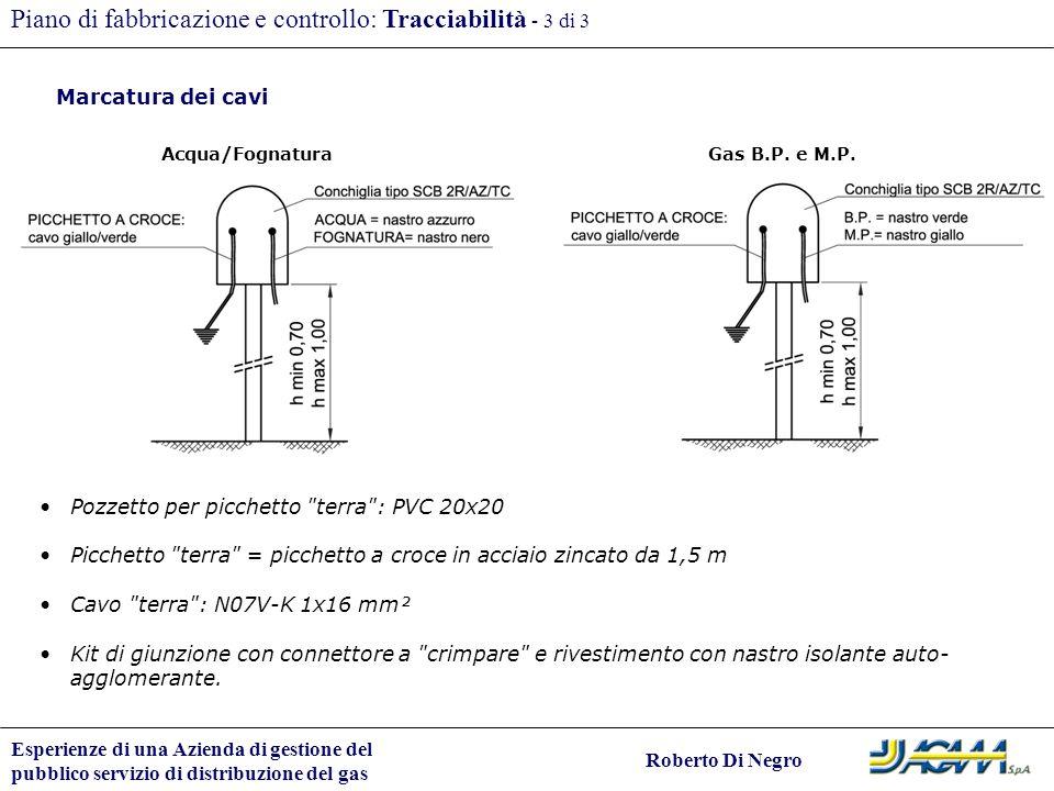 Piano di fabbricazione e controllo: Tracciabilità - 3 di 3